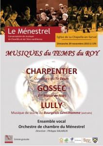 Affiche A3 concert La Chapelle en Serval