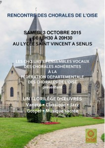 Affiche Rencontres Chorales 3 oct 2015