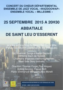 Affiche St Leu d'Esserent 25 sept 2015