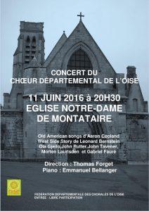 Affiche concert Montataire du 11 juin 2016