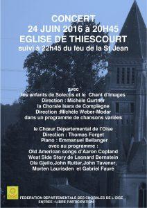 Affiche concert Thiescourt 24 juin 2016