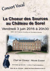 Concert 3 juin 2016 Choeur des Sources