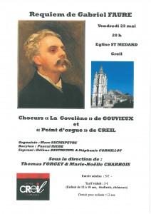 Creil requiem de Fauré