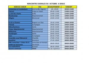 Rencontre chorales 3 octobre